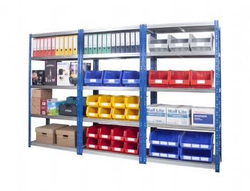 Wide Open Bays with heavy Duty Shelves - 1000mm Wide